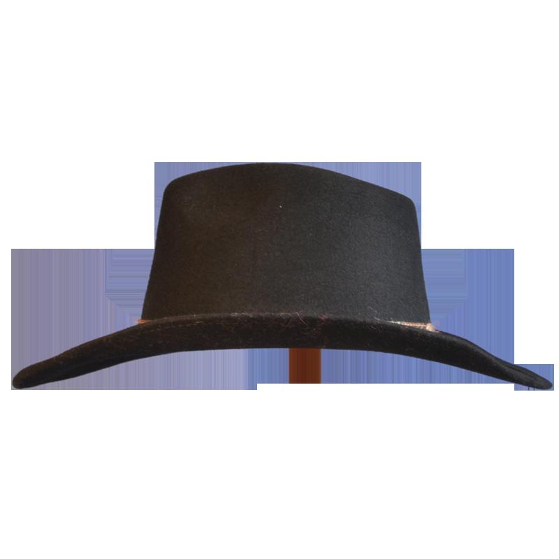 Black Wool Felt Cowboy Hat   Races Hats, Wedding Hat ...