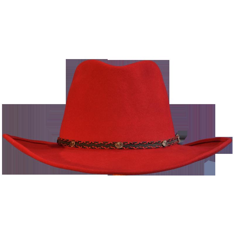 Red Wool Felt Cowboy Hat  4922435d199