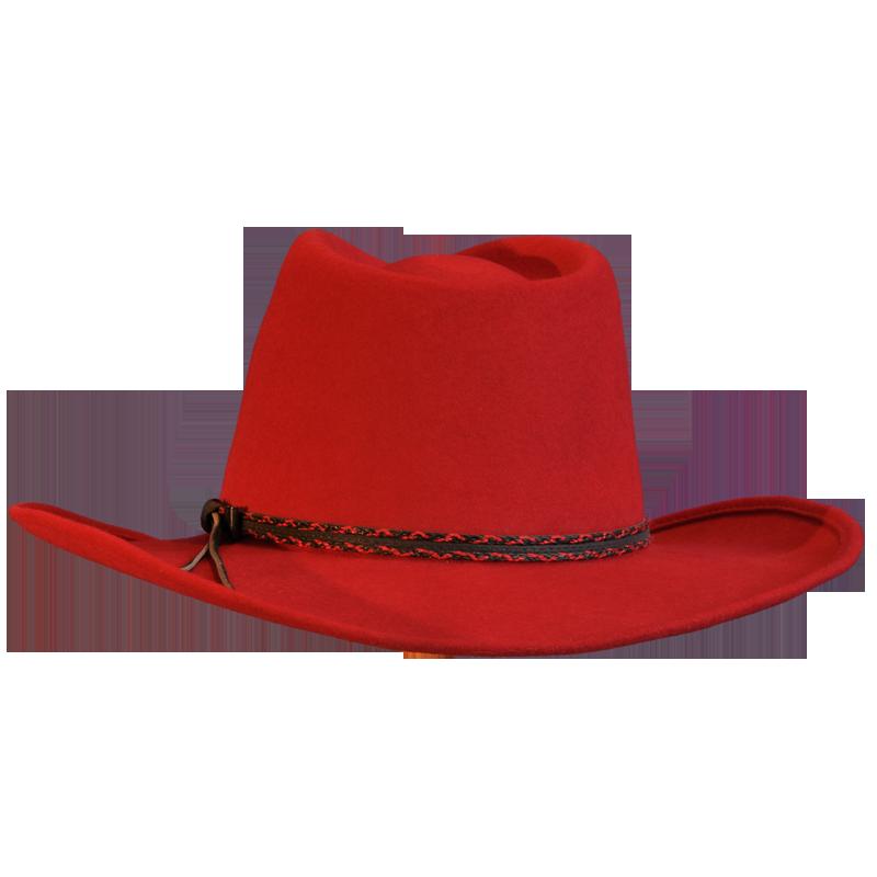 Red Wool Felt Cowboy Hat