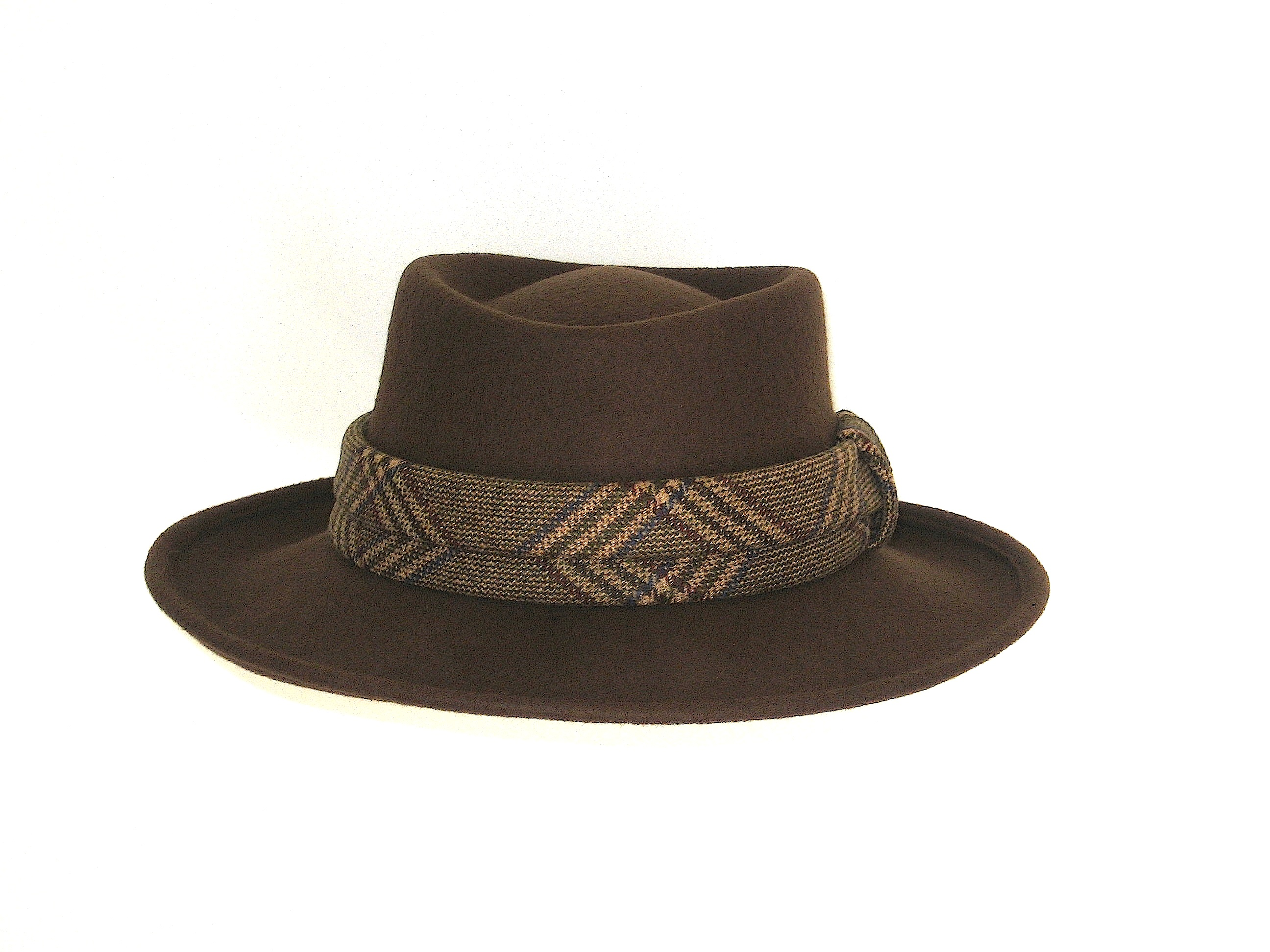 brown wool felt cowboy style hat races hats wedding hat