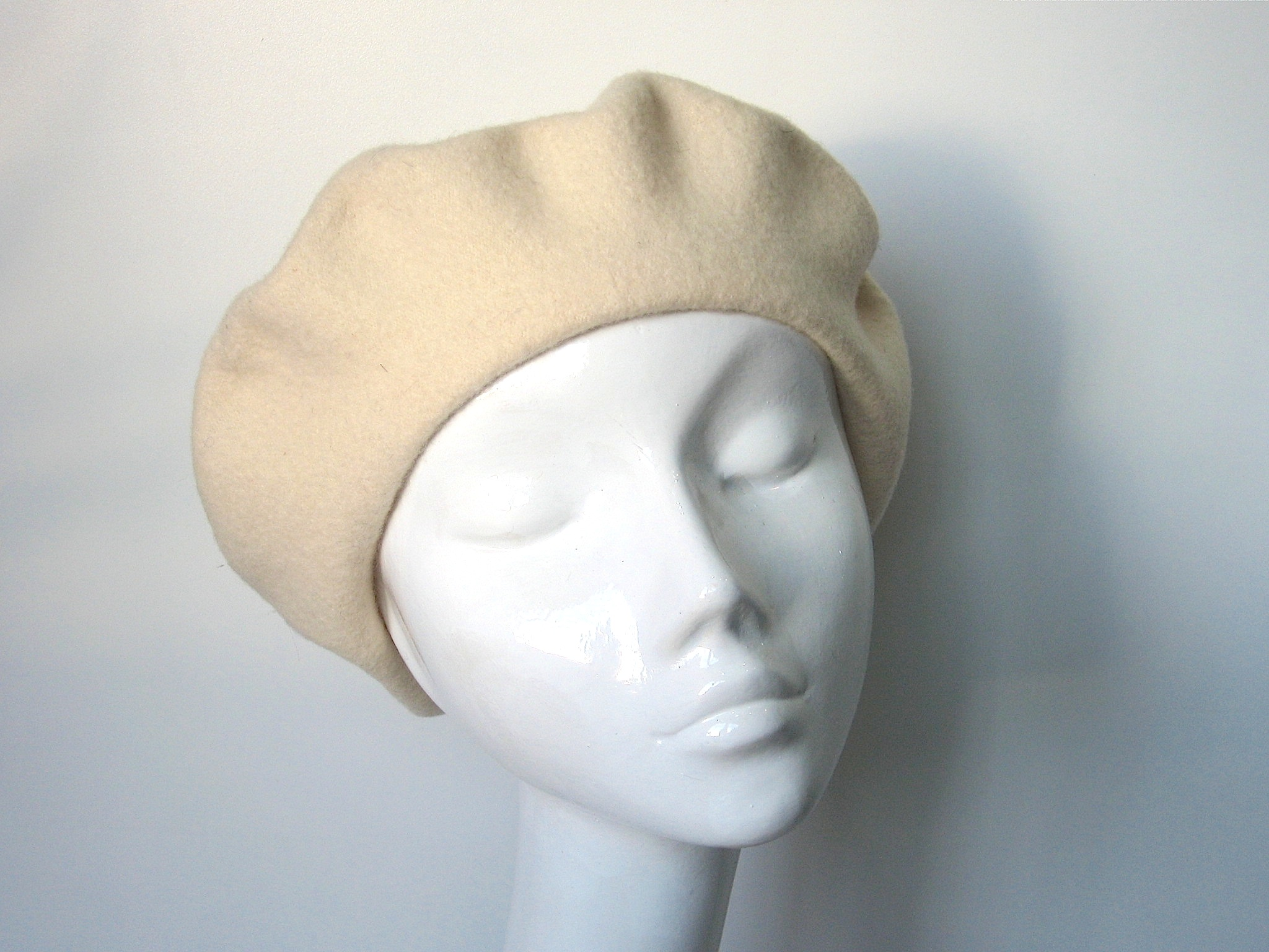 ce8563f7ac76f Kangol Cream Wool Beret. Sale! IMG 4669. IMG 4670 IMG 4671. Cream beret by  Kangol. 100% pure virgin wool. Made in Great Britain.